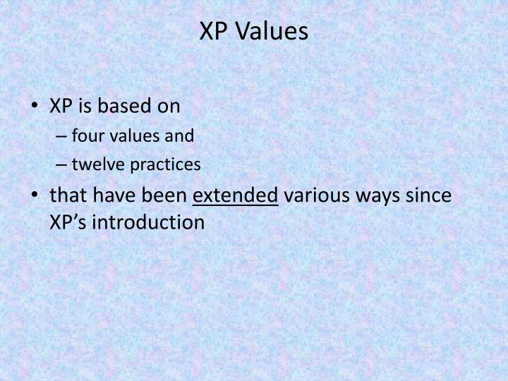 XP Values