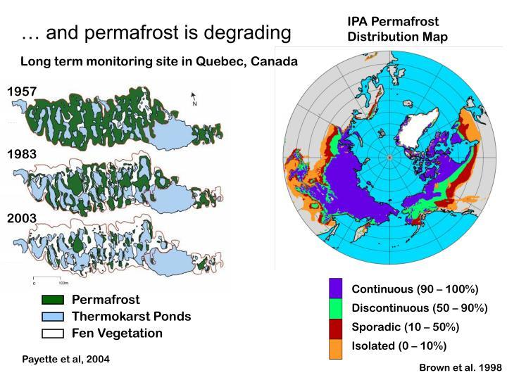 IPA Permafrost Distribution Map