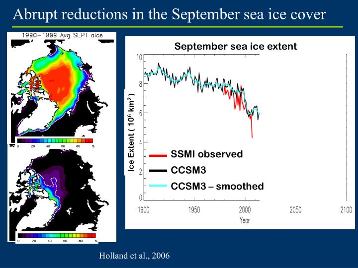 Abrupt reductions in the September sea ice cover