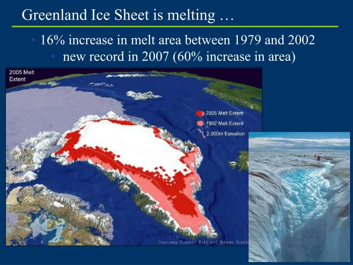 Greenland Ice Sheet is melting …
