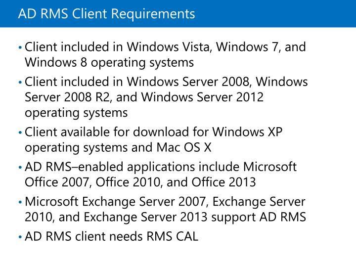 ADRMS Client Requirements