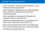 ad rms client requirements