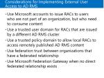 considerations for implementing external user access to ad rms