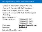 lab implementing an ad rms infrastructure