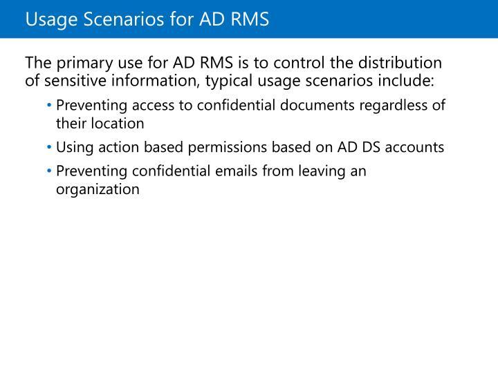 Usage Scenarios for ADRMS