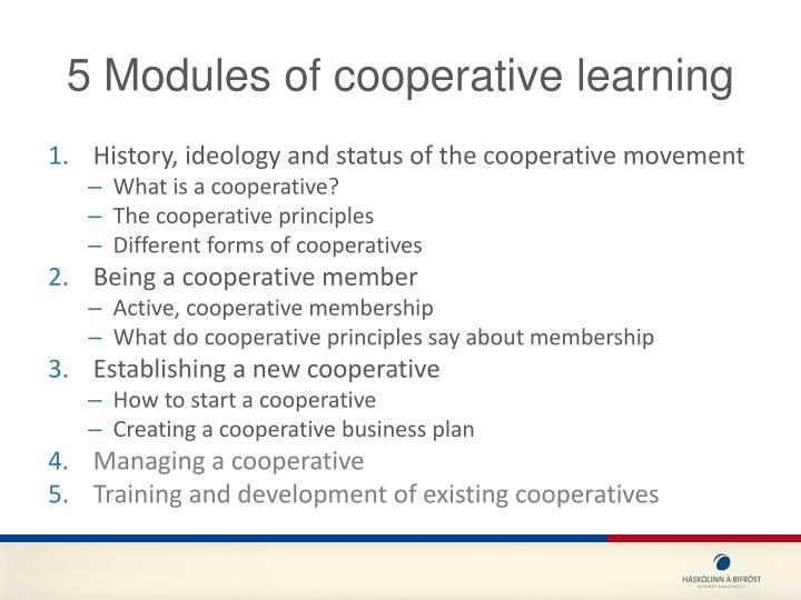 5 Modules of cooperative learning