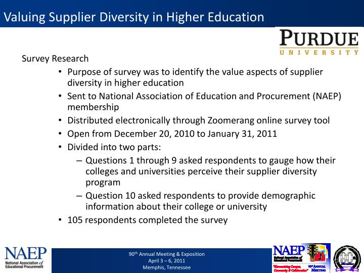 Valuing Supplier Diversity in Higher Education