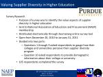 valuing supplier diversity in higher education1