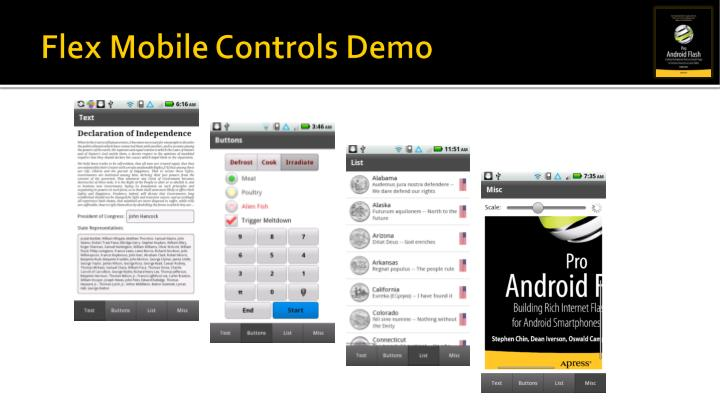Flex Mobile Controls Demo
