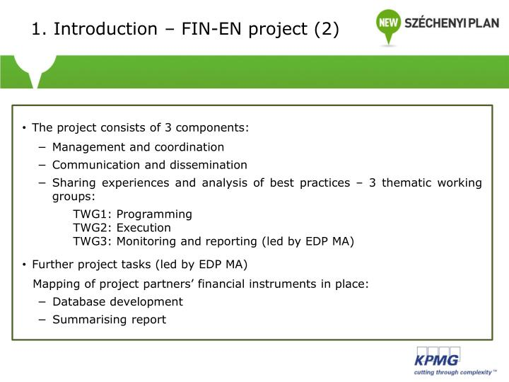 1. Introduction – FIN-EN project (2)