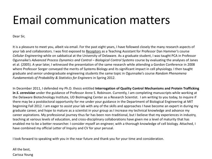 Email communication matters