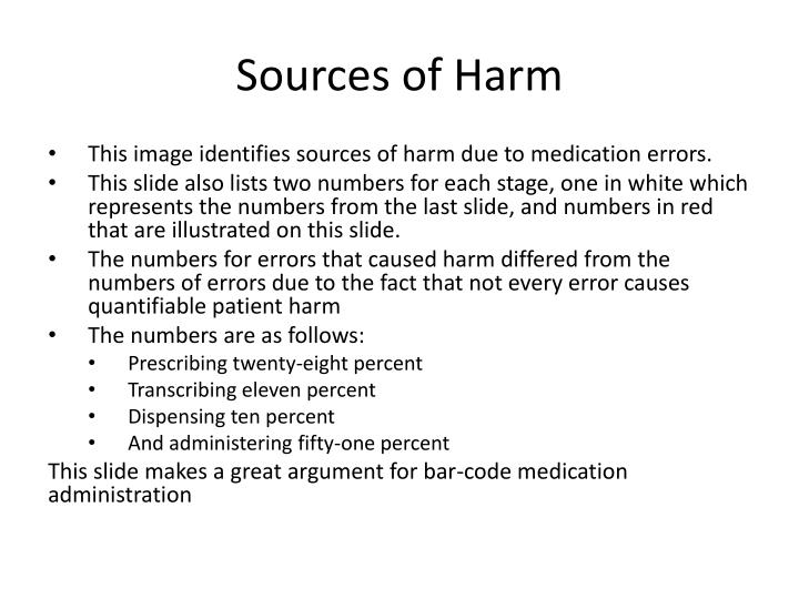 Sources of Harm
