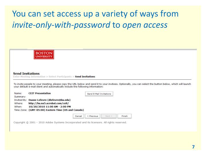 You can set access up a variety of ways from