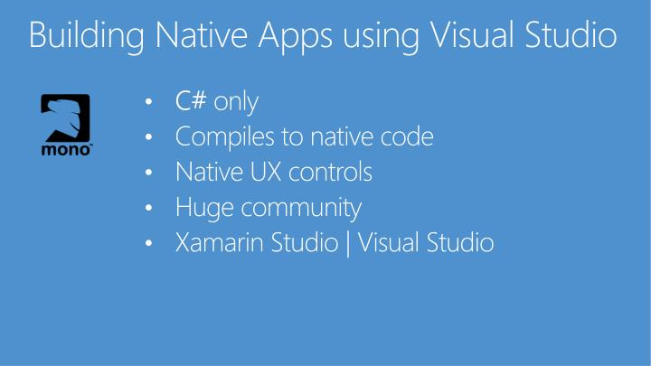 Building Native Apps using