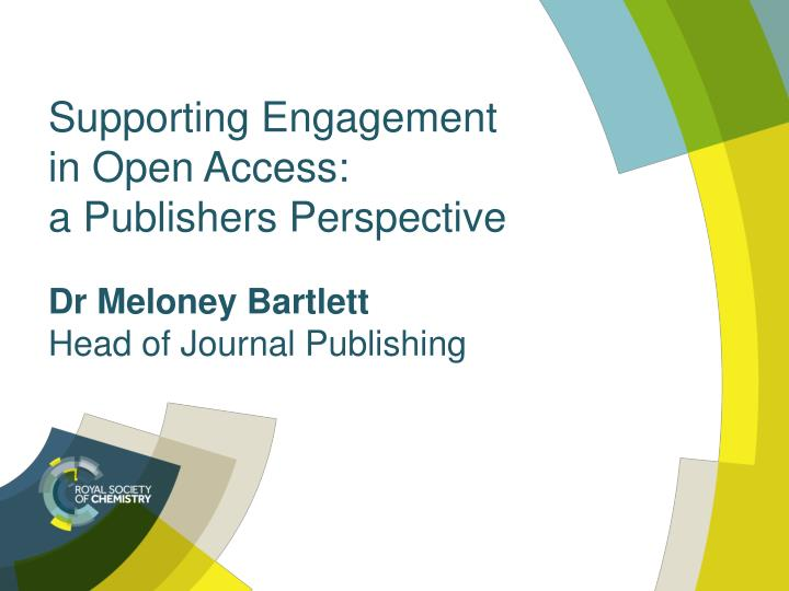 Dr meloney bartlett head of journal publishing