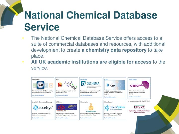 National Chemical Database Service