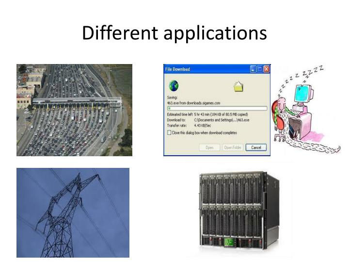 Different applications