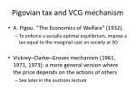 pigovian tax and vcg mechanism