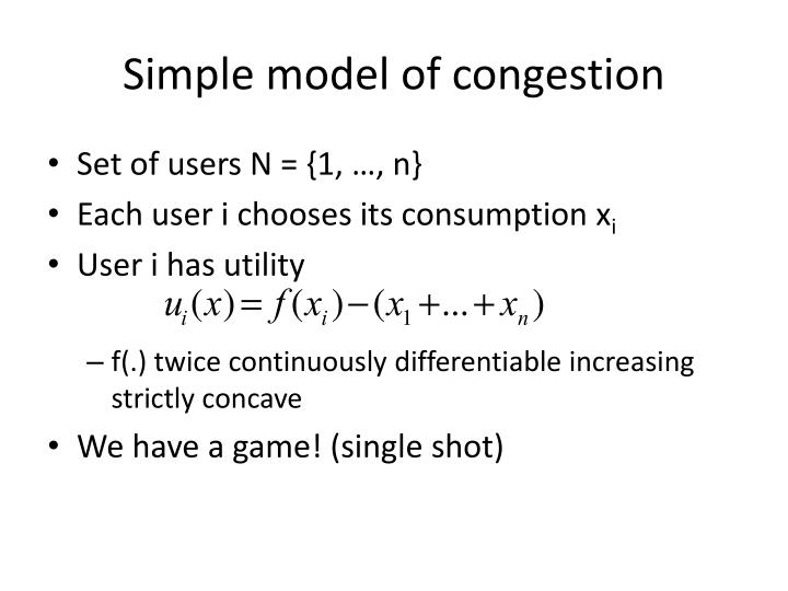 Simple model of congestion