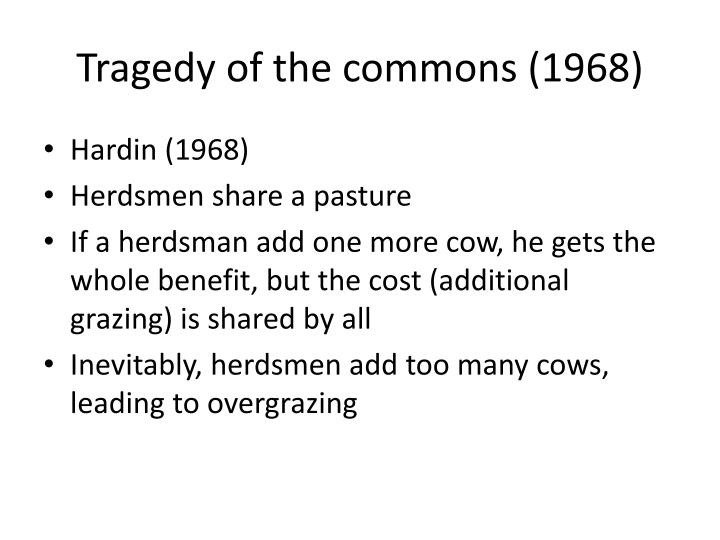 Tragedy of the commons (1968)