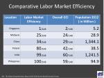 comparative labor market efficiency