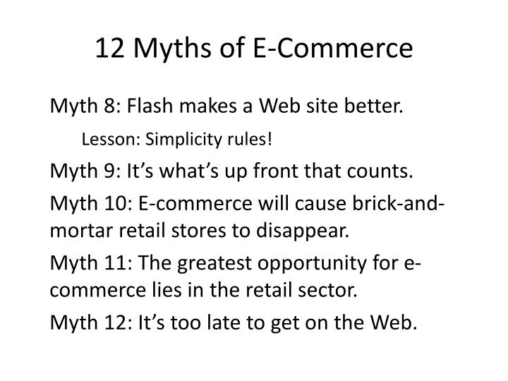 12 Myths of E-Commerce
