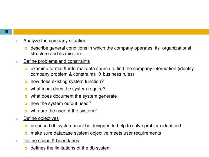 Analyze the company situation
