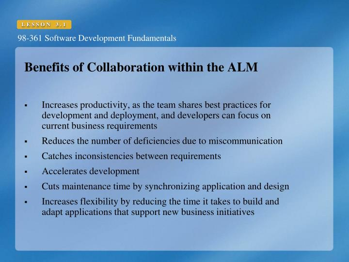 Benefits of Collaboration within the ALM