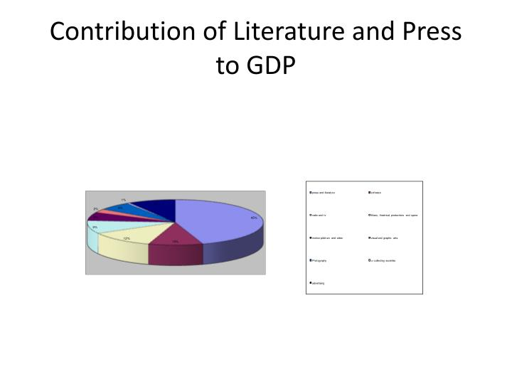 Contribution of Literature and Press