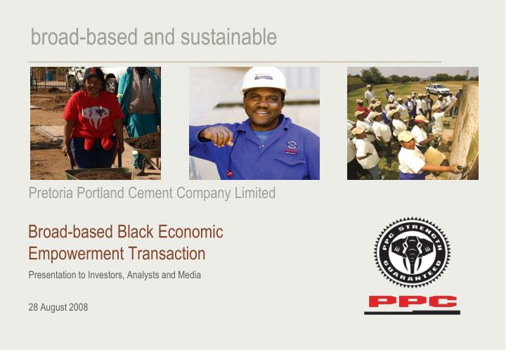 Broad based black economic empowerment transaction