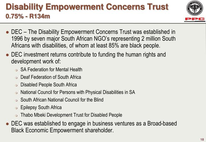 Disability Empowerment Concerns Trust