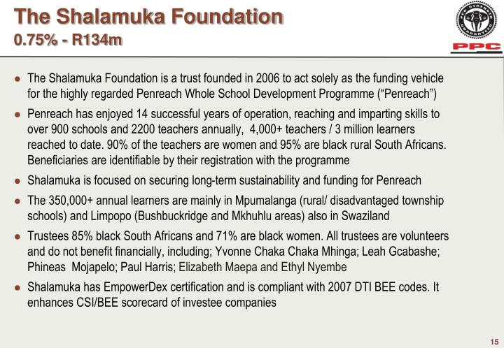 The Shalamuka Foundation