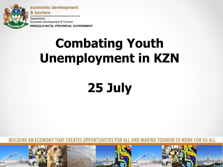 Combating Youth Unemployment in KZN