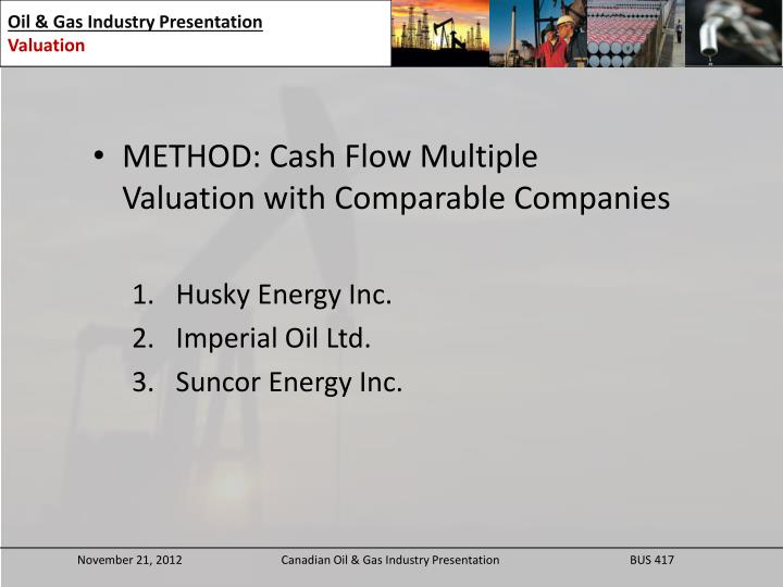 METHOD: Cash Flow Multiple Valuation with Comparable Companies
