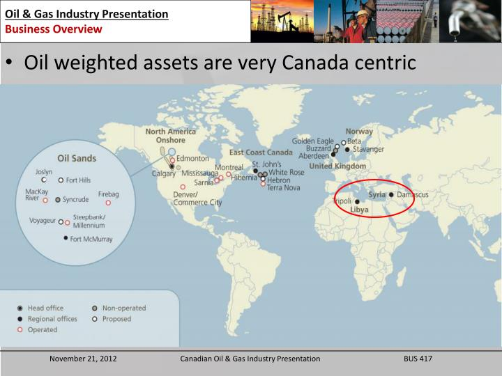 Oil weighted assets are very Canada centric