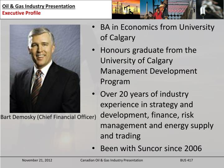 BA in Economics from University of Calgary