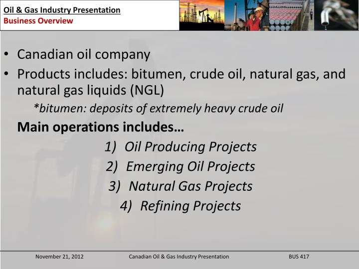 Canadian oil company