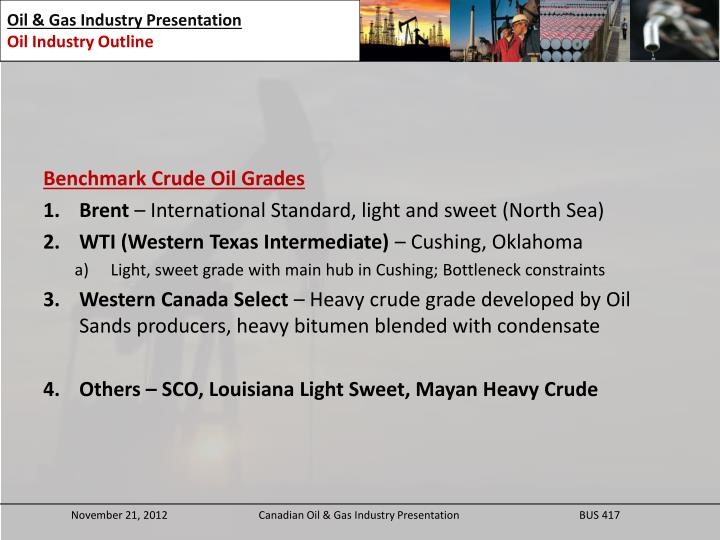 Benchmark Crude Oil Grades