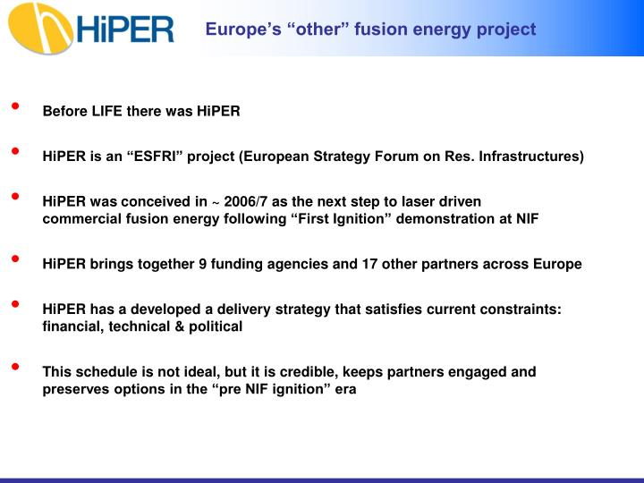 "Europe's ""other"" fusion energy project"