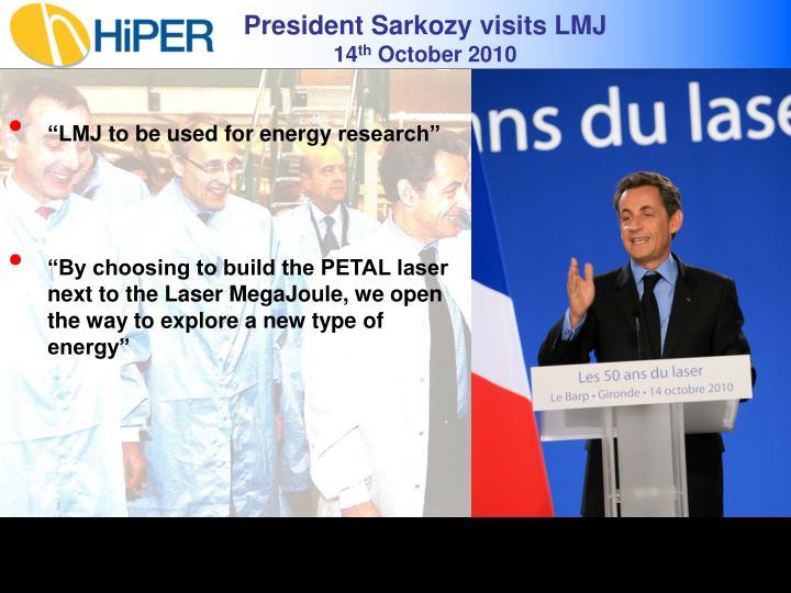 President Sarkozy visits LMJ