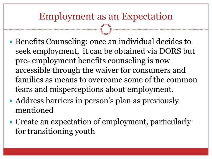Employment as an Expectation