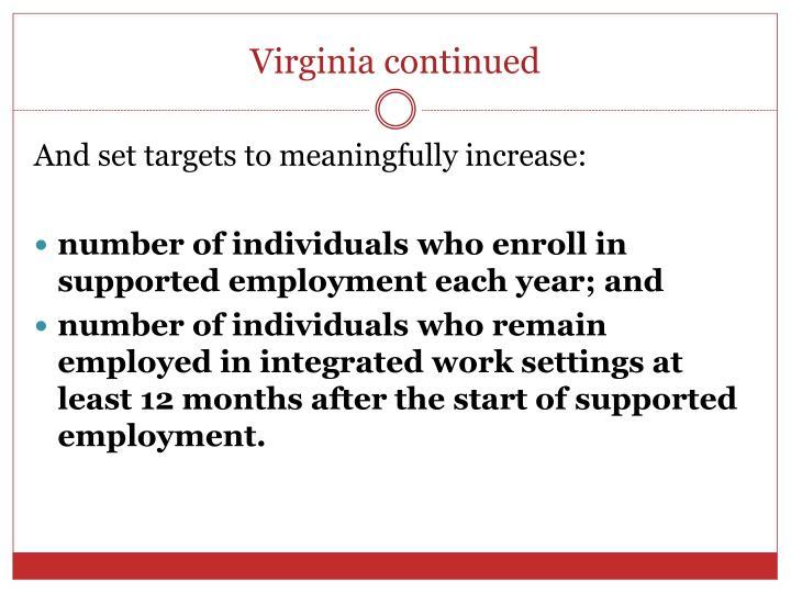 Virginia continued