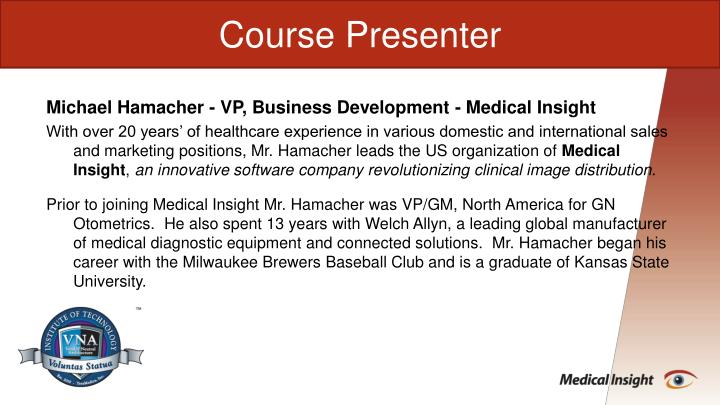 Course Presenter