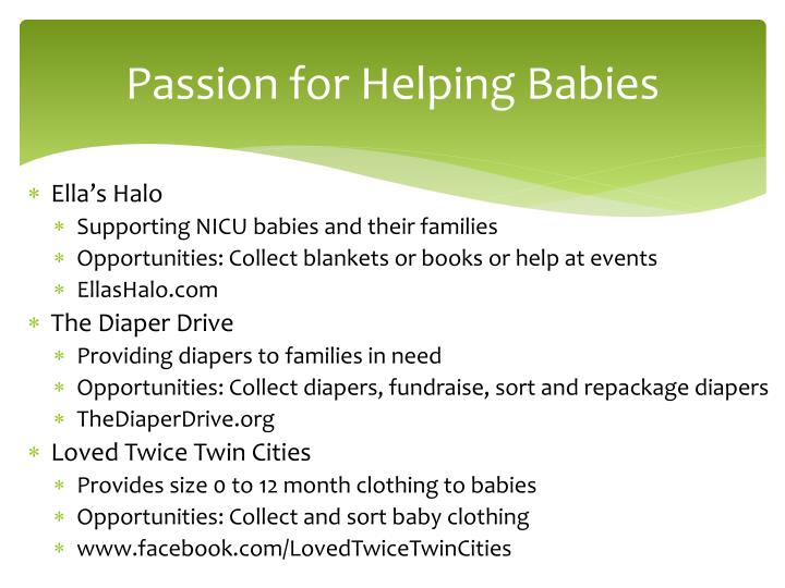 Passion for Helping Babies