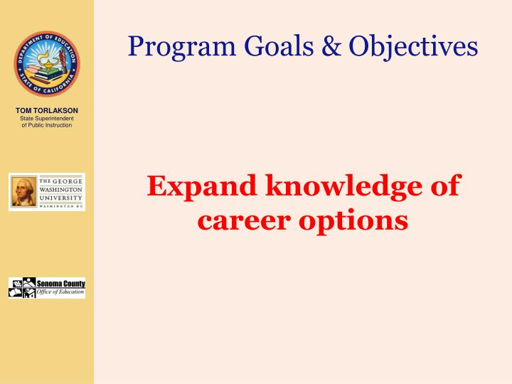 Program Goals & Objectives