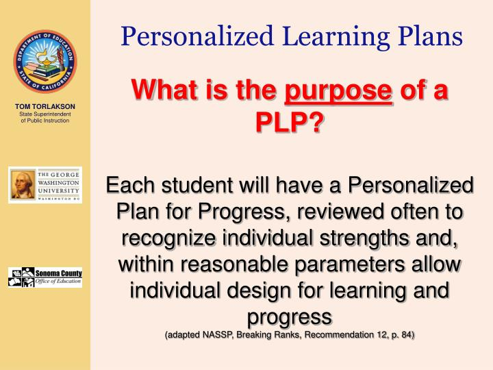 Personalized Learning Plans