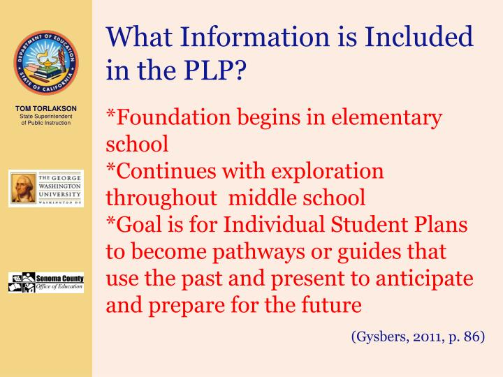 What Information is Included in the PLP?