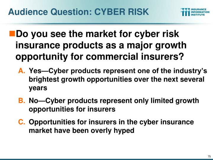 Audience Question: CYBER RISK