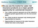 audience question cyber risk