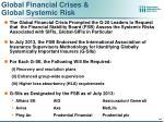 global financial crises global systemic risk